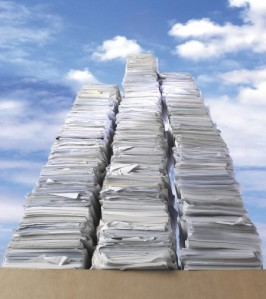 Stacks of Paper Johnny Used to run the Company